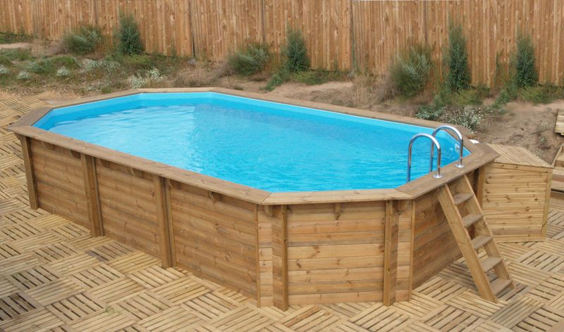 Baseny gotowe drewniane for Costruire piscina fai da te